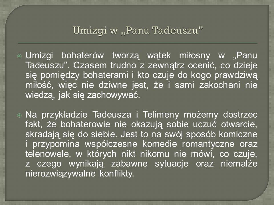 "Umizgi w ""Panu Tadeuszu"