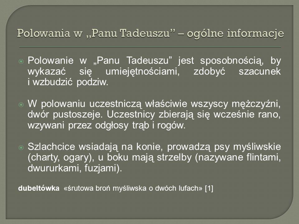 """Polowania w """"Panu Tadeuszu – ogólne informacje"""