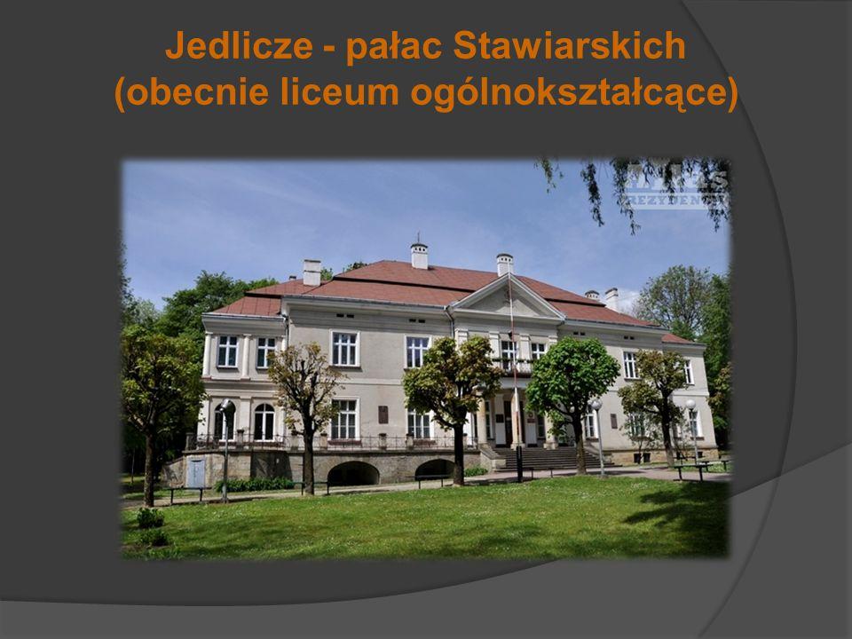 Jedlicze - pałac Stawiarskich (obecnie liceum ogólnokształcące)