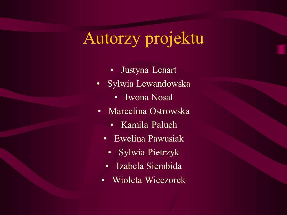 Autorzy projektu Justyna Lenart Sylwia Lewandowska Iwona Nosal