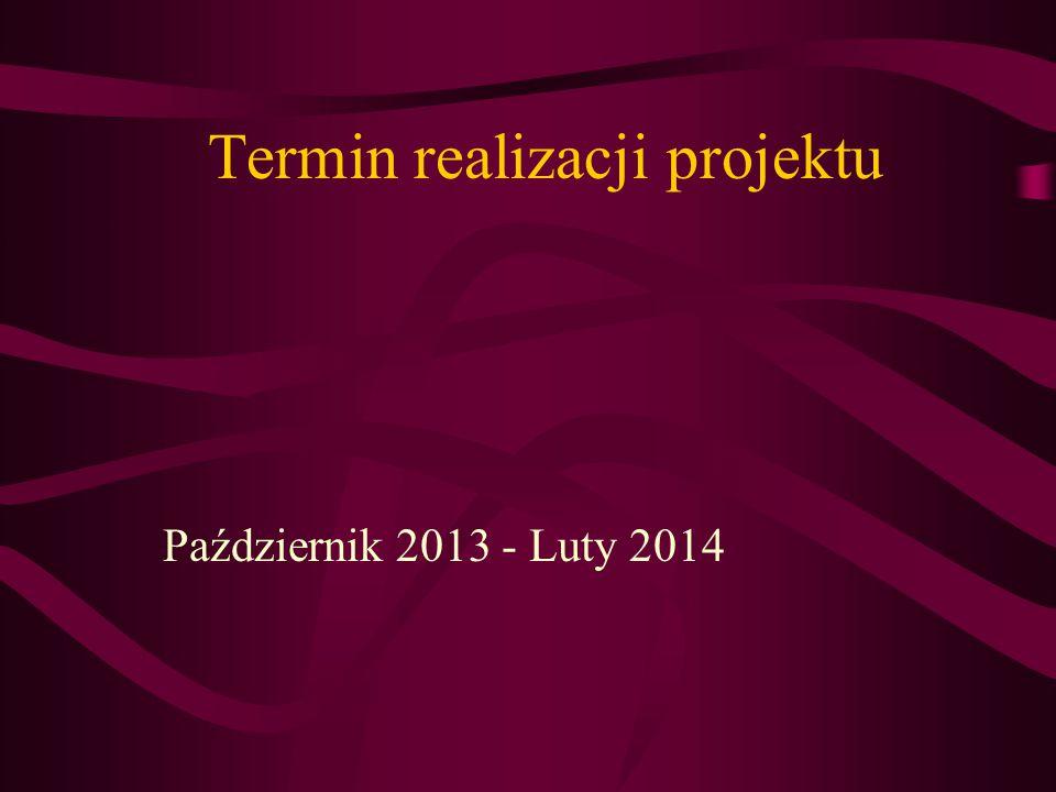 Termin realizacji projektu