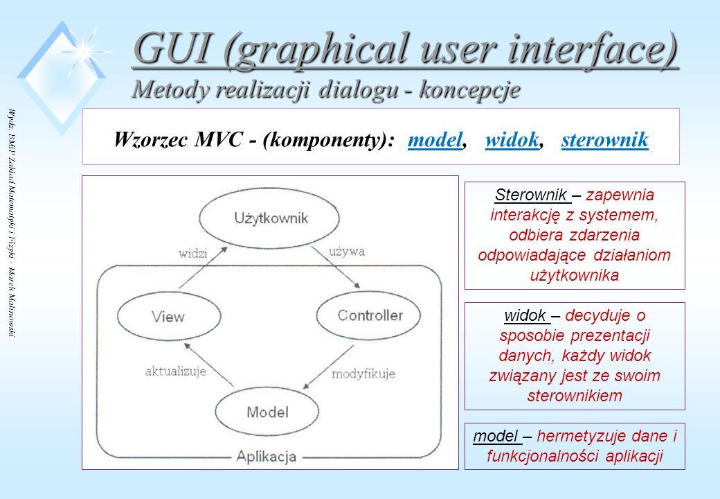 Wzorzec MVC - (komponenty): model, widok, sterownik