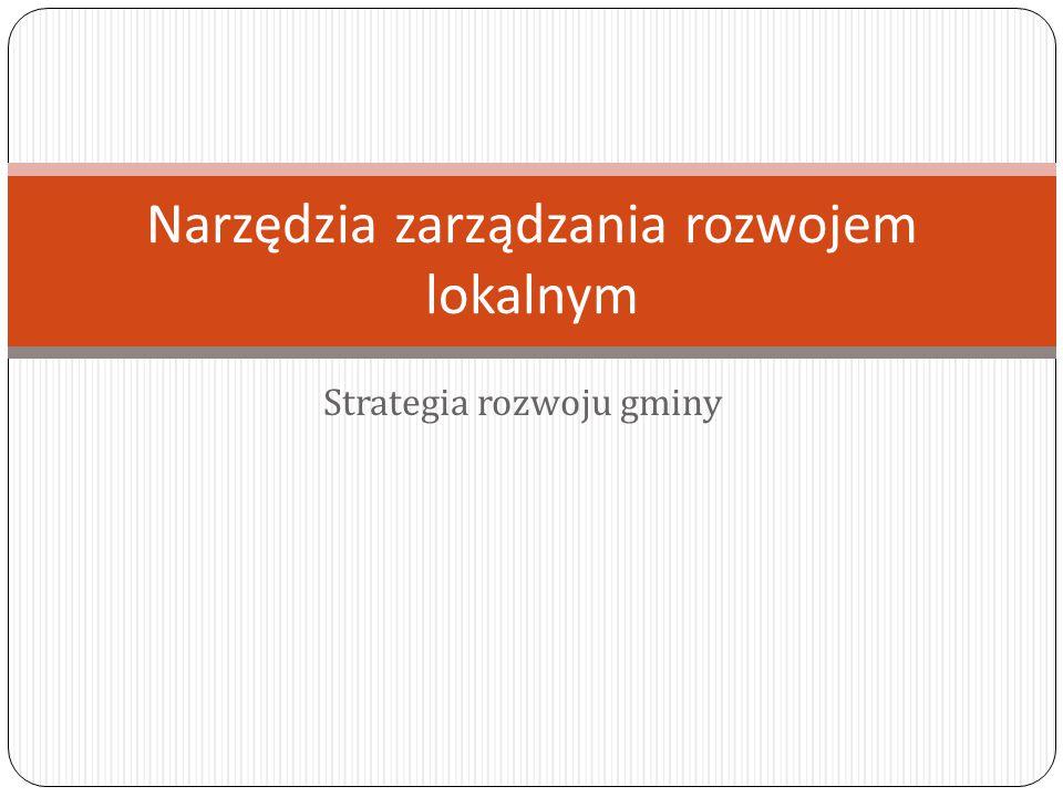 Narzędzia zarządzania rozwojem lokalnym