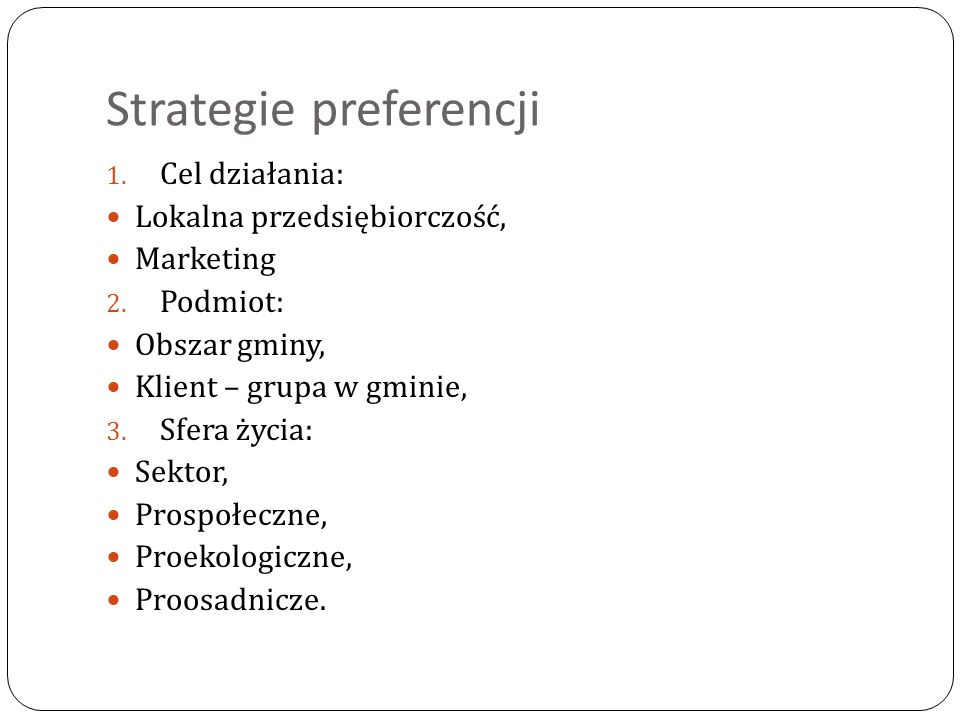 Strategie preferencji
