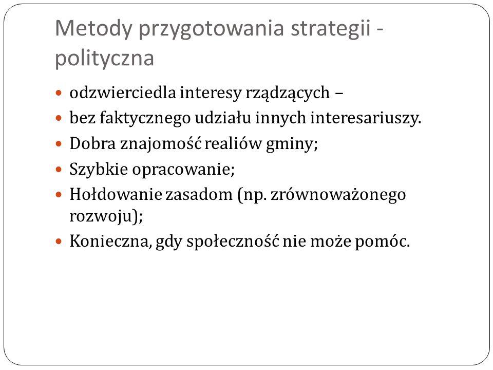 Metody przygotowania strategii - polityczna
