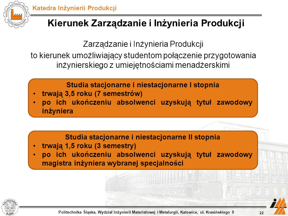 Kierunek Zarządzanie i Inżynieria Produkcji