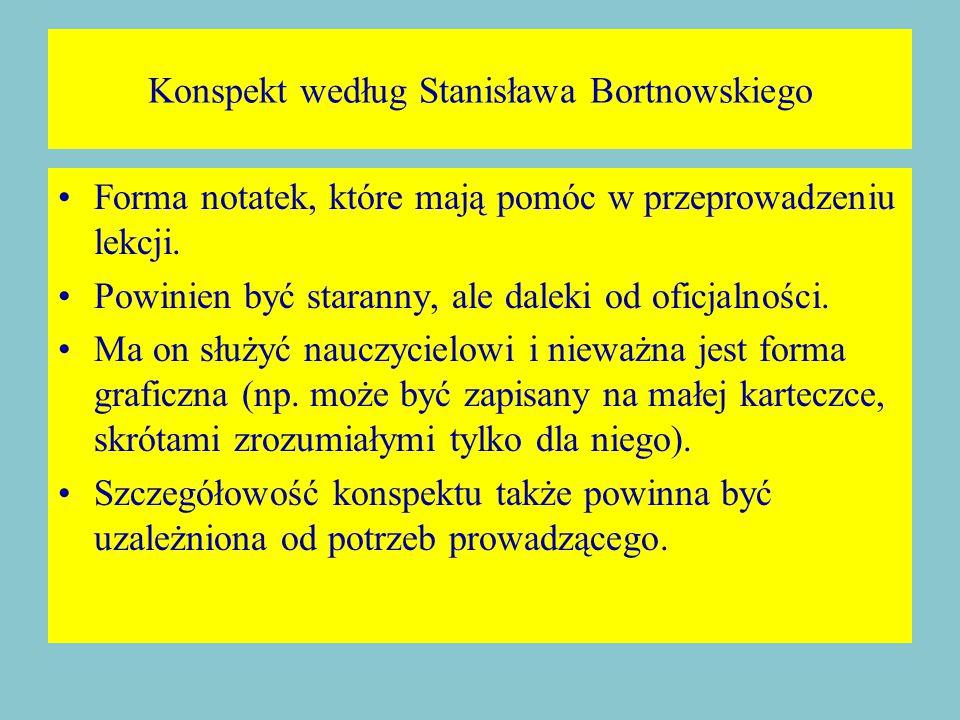 Konspekt według Stanisława Bortnowskiego