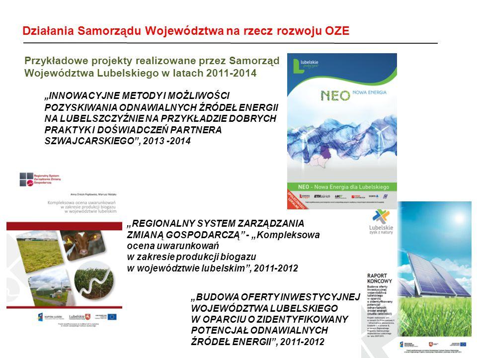 Działania Samorządu Województwa na rzecz rozwoju OZE