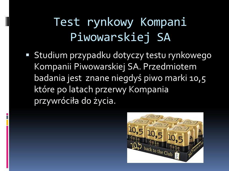 Test rynkowy Kompani Piwowarskiej SA