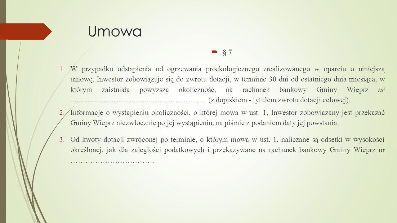Umowa § 7.