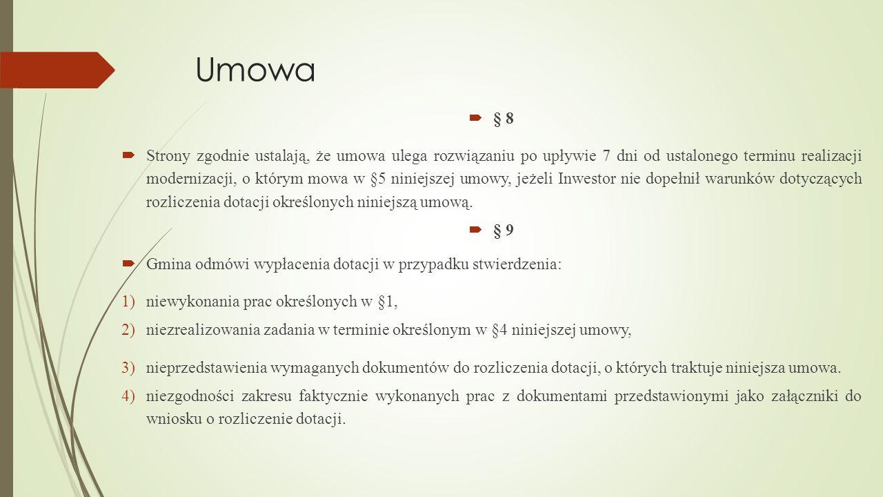 Umowa § 8.
