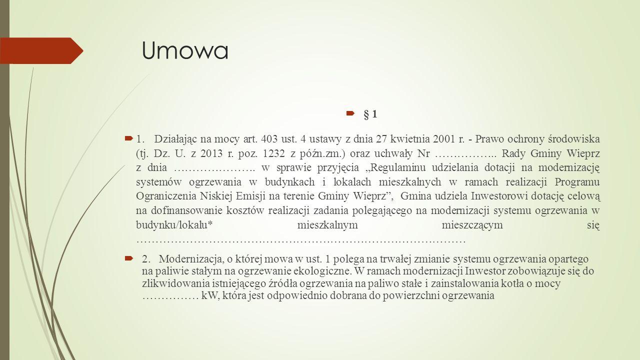 Umowa § 1.