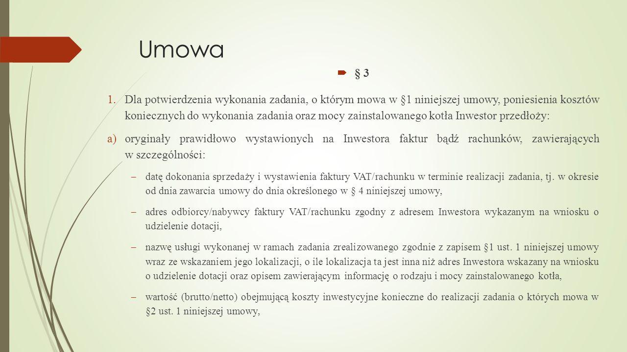 Umowa § 3.