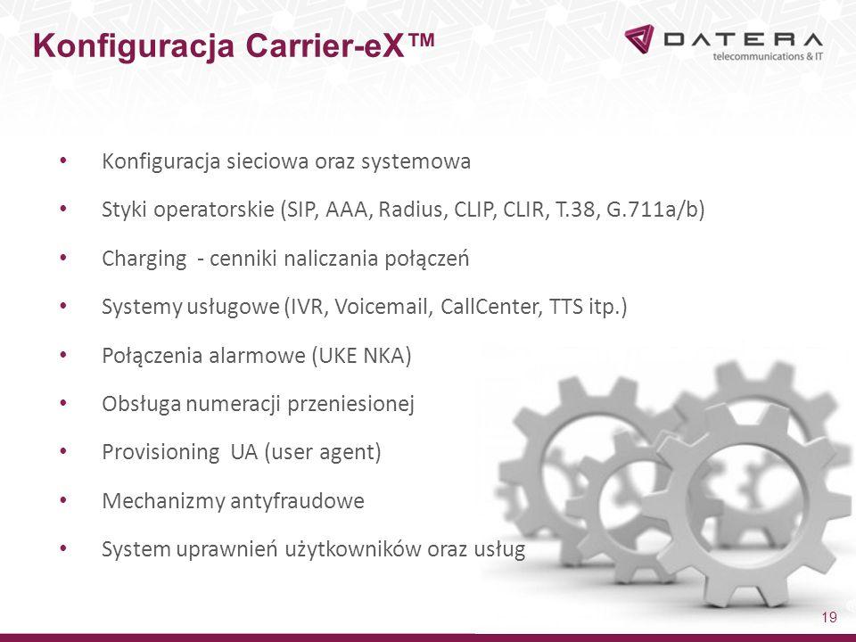 Konfiguracja Carrier-eX™