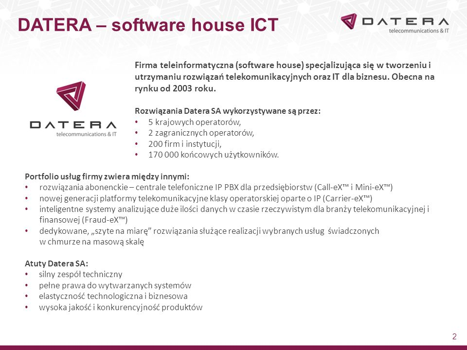 DATERA – software house ICT