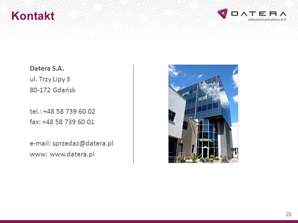 Kontakt Datera S.A. ul. Trzy Lipy 3 80-172 Gdańsk