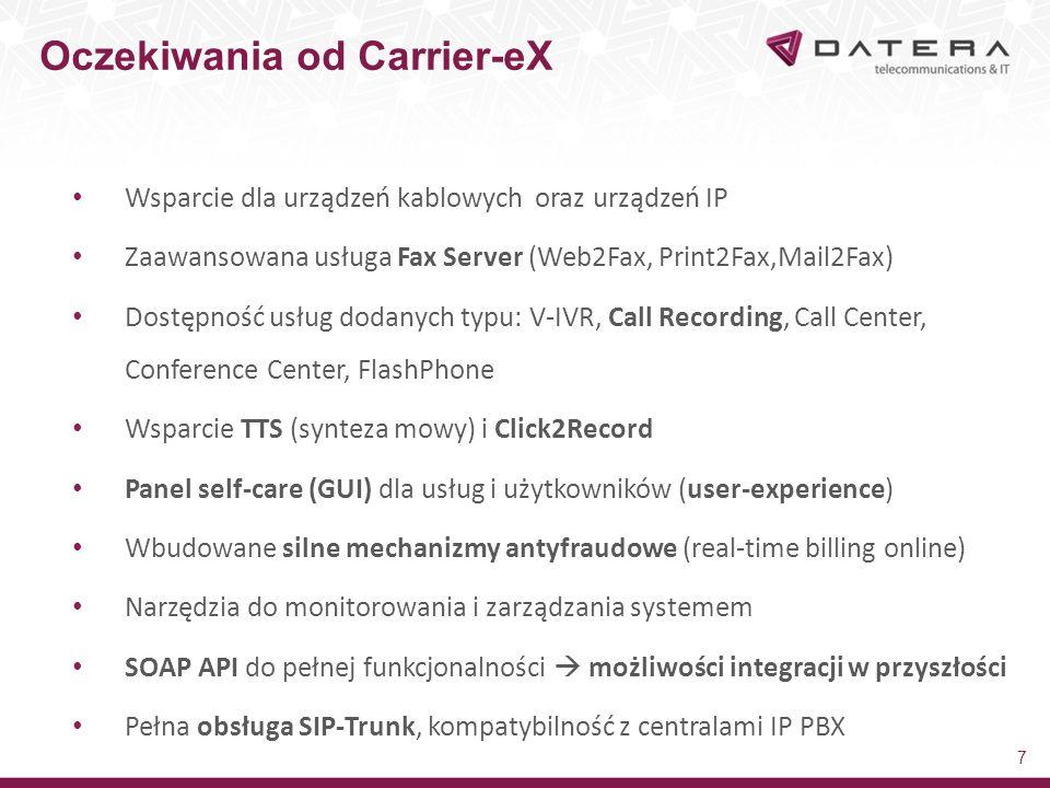 Oczekiwania od Carrier-eX