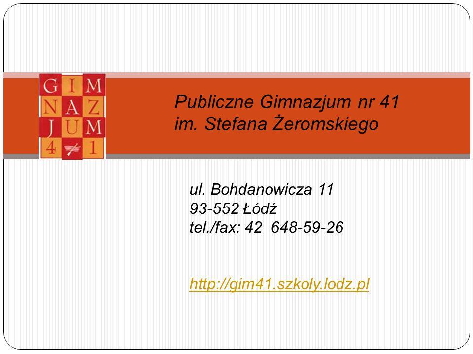 Publiczne Gimnazjum nr 41 im. Stefana Żeromskiego