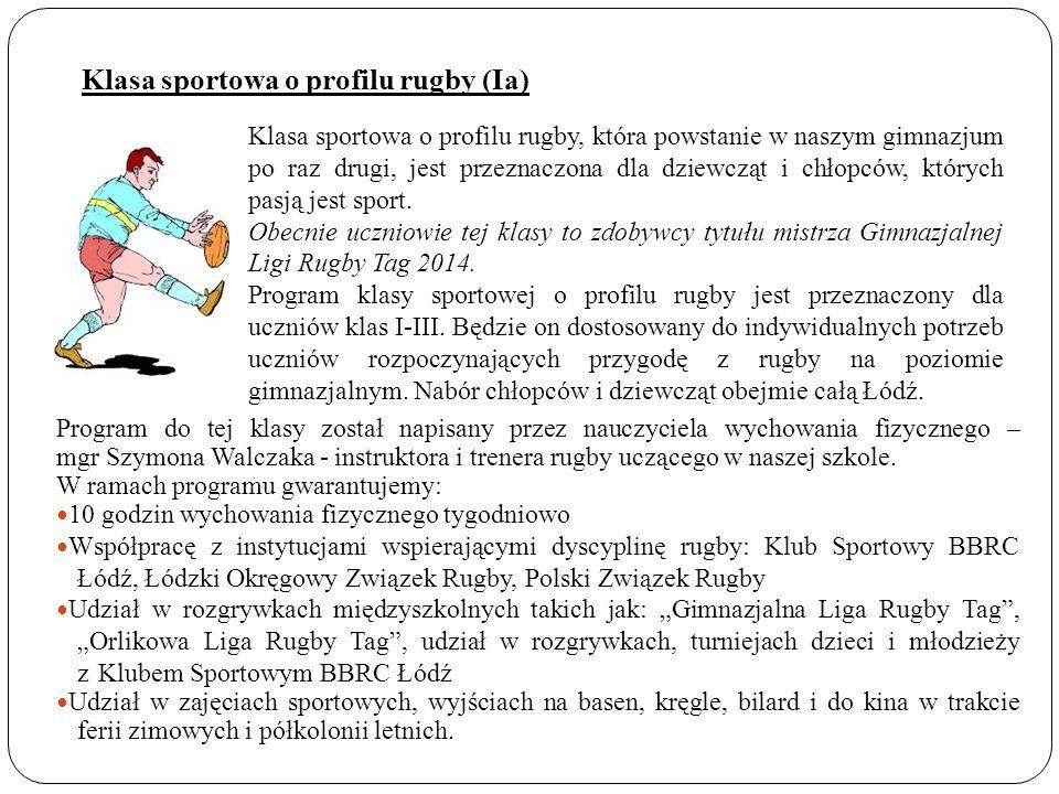 Klasa sportowa o profilu rugby (Ia)