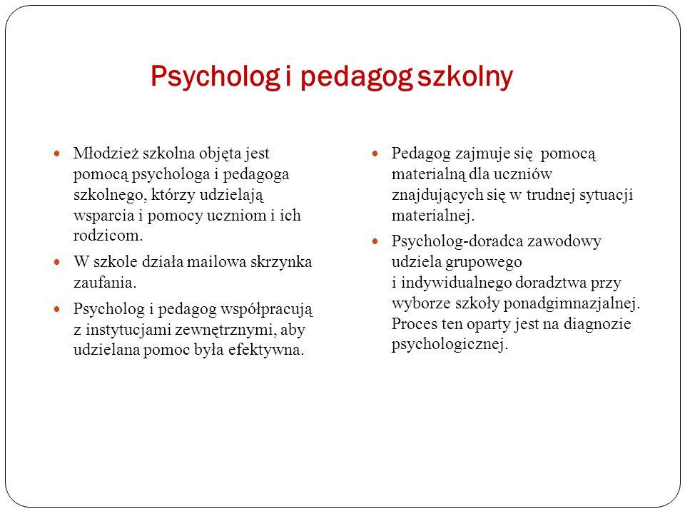 Psycholog i pedagog szkolny