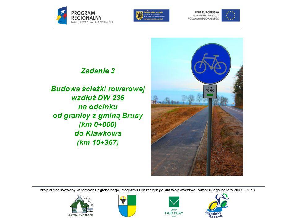Budowa ścieżki rowerowej od granicy z gminą Brusy