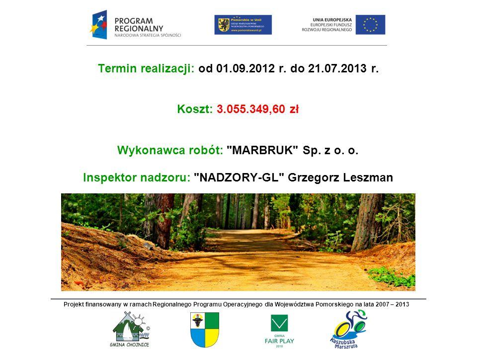 Termin realizacji: od 01.09.2012 r. do 21.07.2013 r.