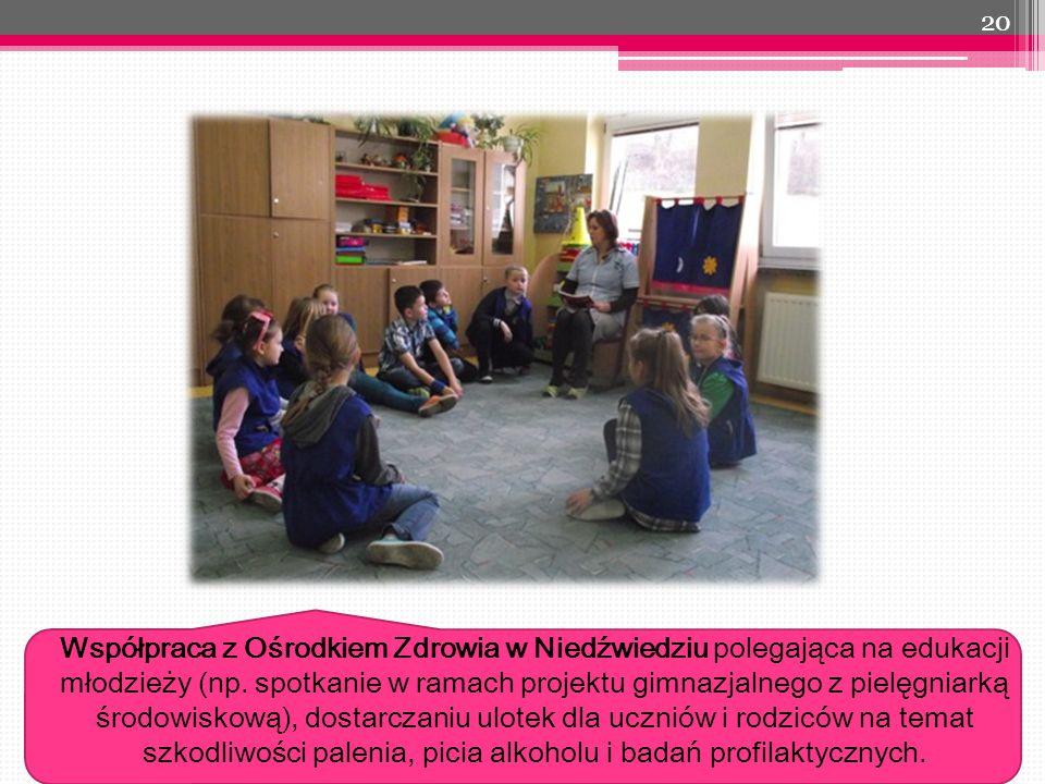 Współpraca z Ośrodkiem Zdrowia w Niedźwiedziu polegająca na edukacji młodzieży (np.