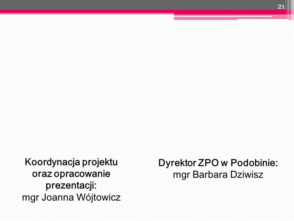 Koordynacja projektu oraz opracowanie prezentacji: