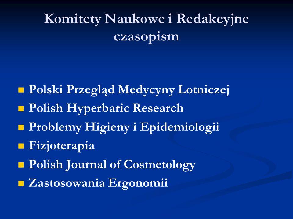 Komitety Naukowe i Redakcyjne czasopism