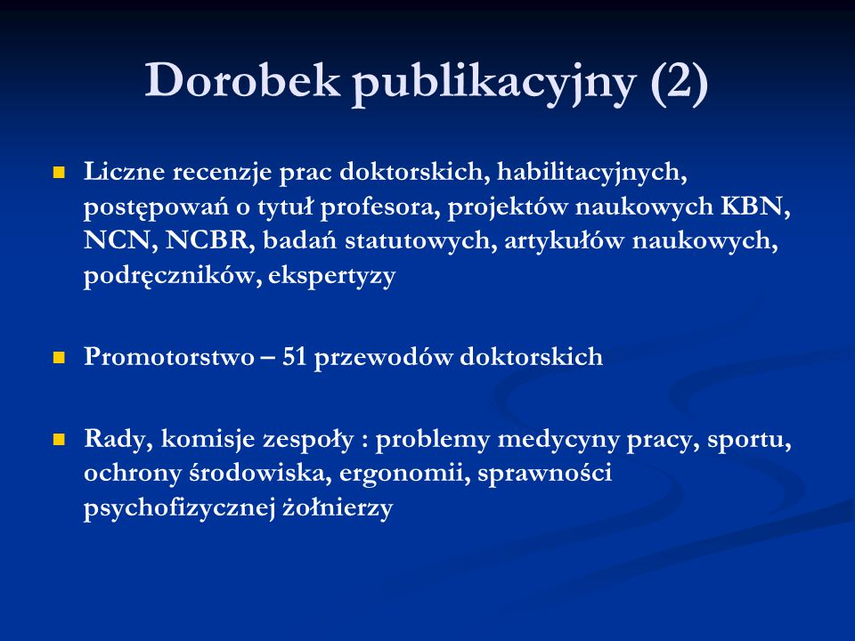 Dorobek publikacyjny (2)
