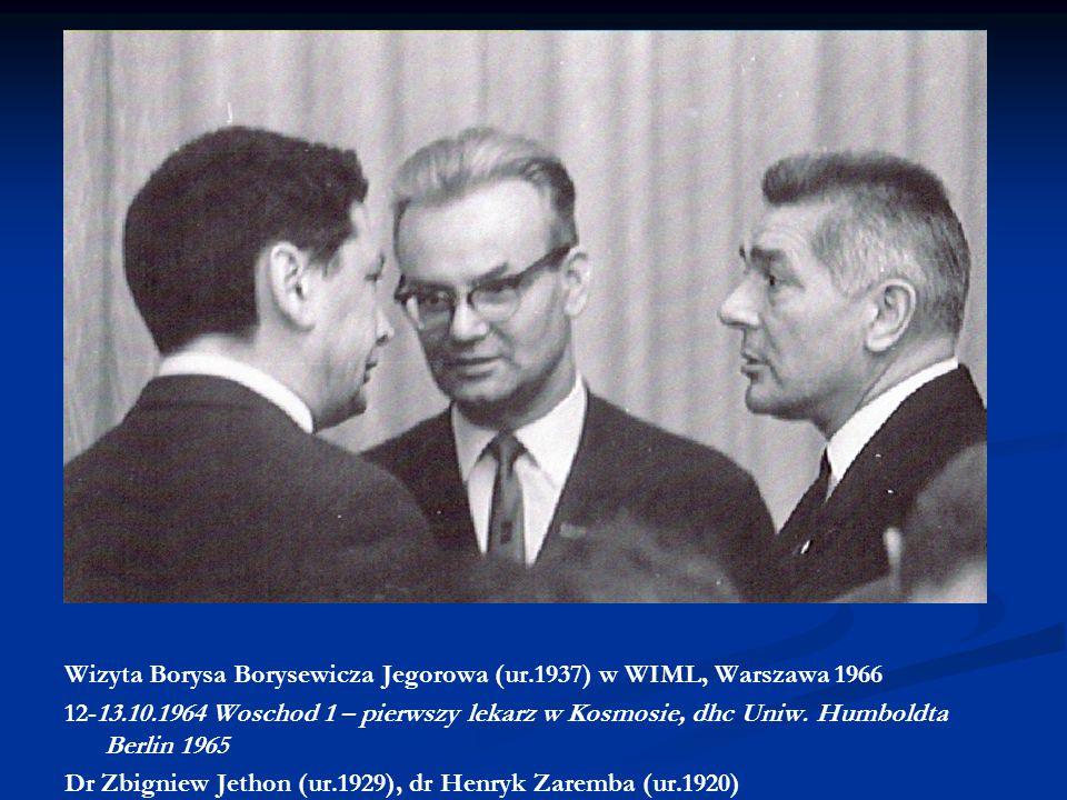 Wizyta Borysa Borysewicza Jegorowa (ur.1937) w WIML, Warszawa 1966