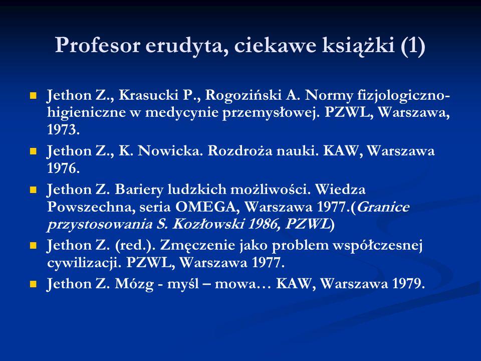 Profesor erudyta, ciekawe książki (1)