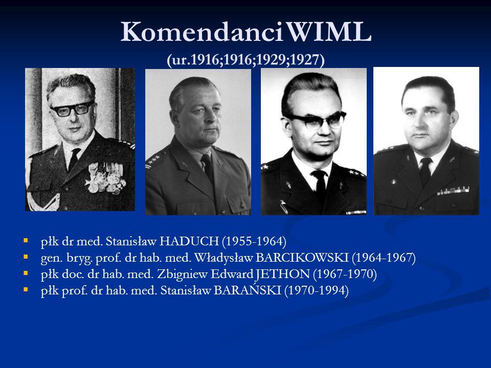 Komendanci WIML (ur.1916;1916;1929;1927)