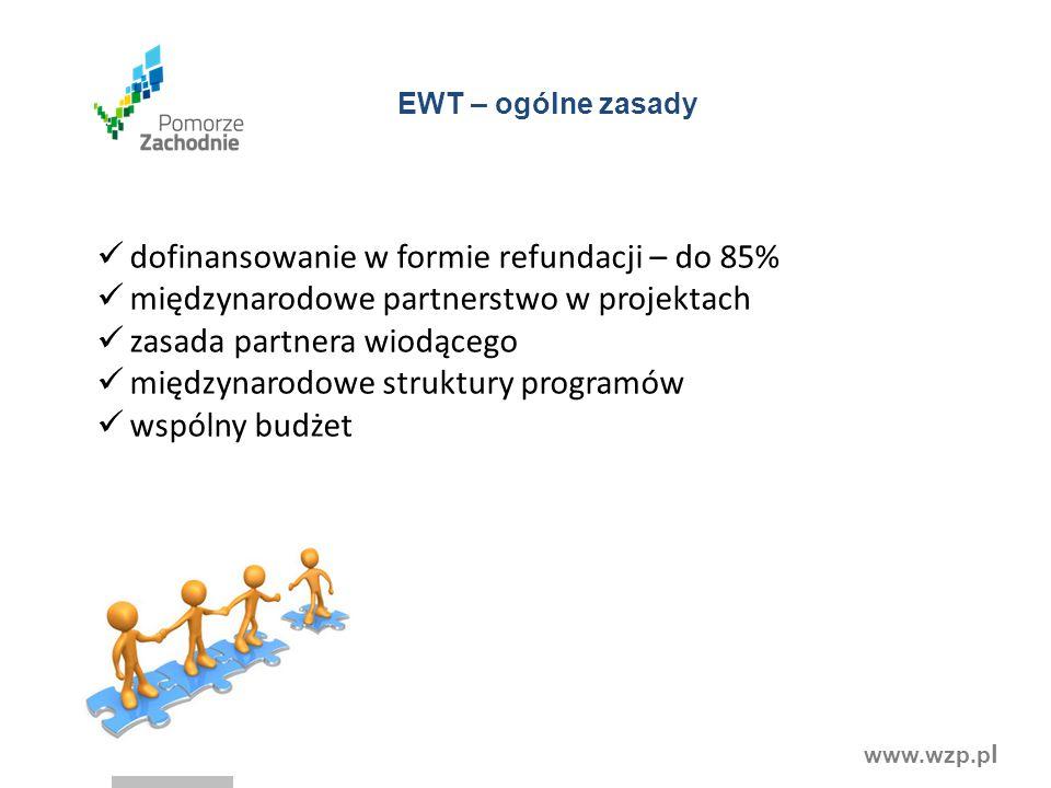 dofinansowanie w formie refundacji – do 85%