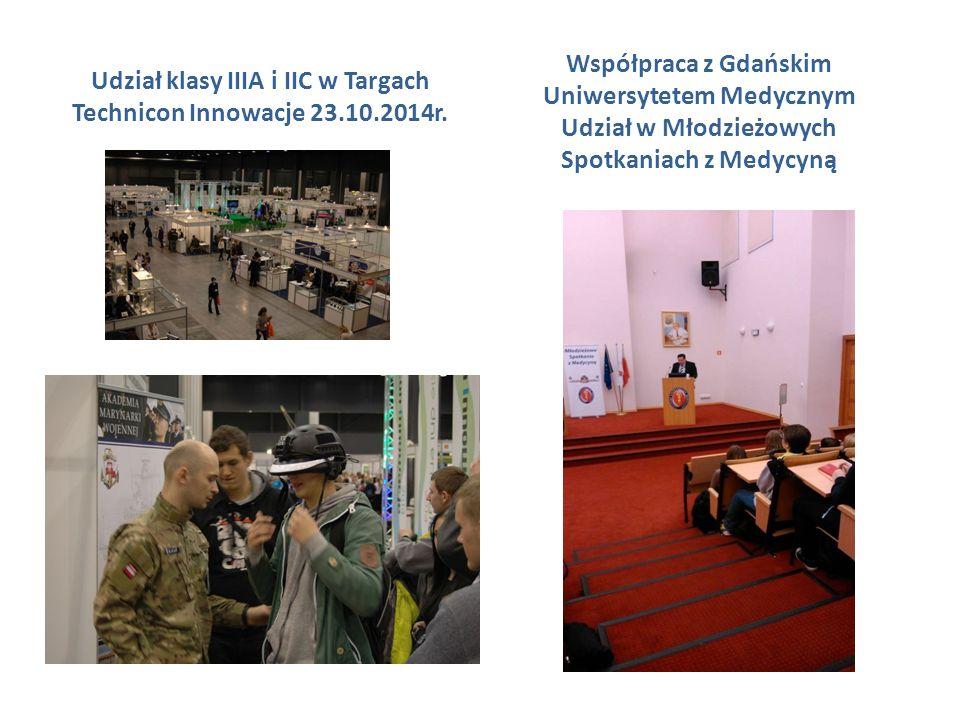 Udział klasy IIIA i IIC w Targach Technicon Innowacje 23.10.2014r.