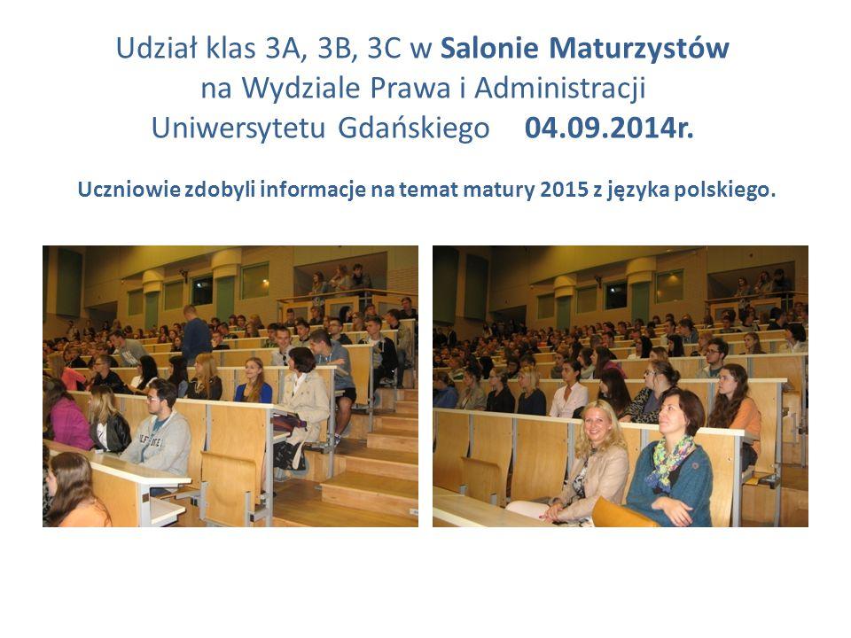 Uczniowie zdobyli informacje na temat matury 2015 z języka polskiego.