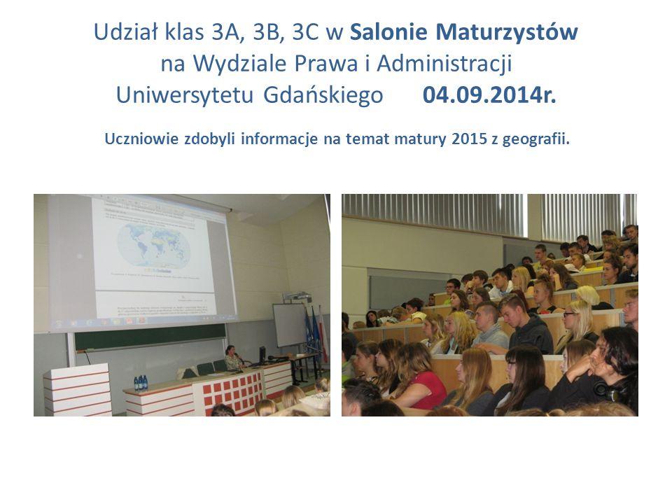 Uczniowie zdobyli informacje na temat matury 2015 z geografii.
