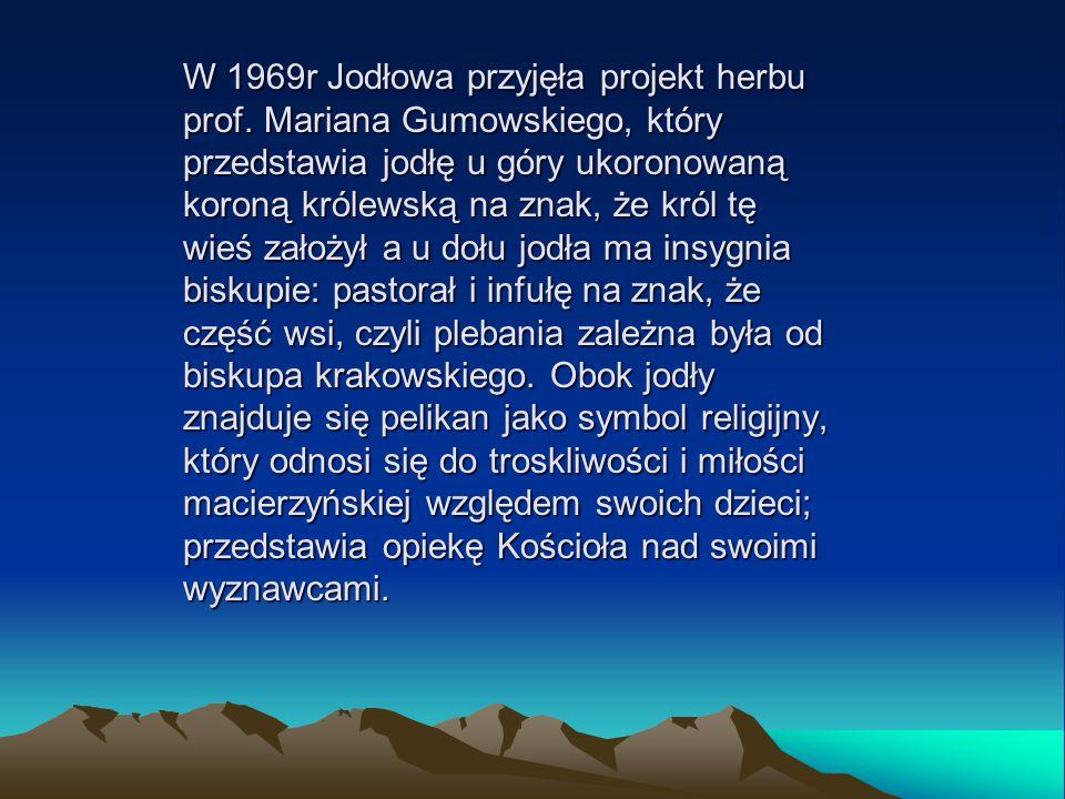 W 1969r Jodłowa przyjęła projekt herbu prof