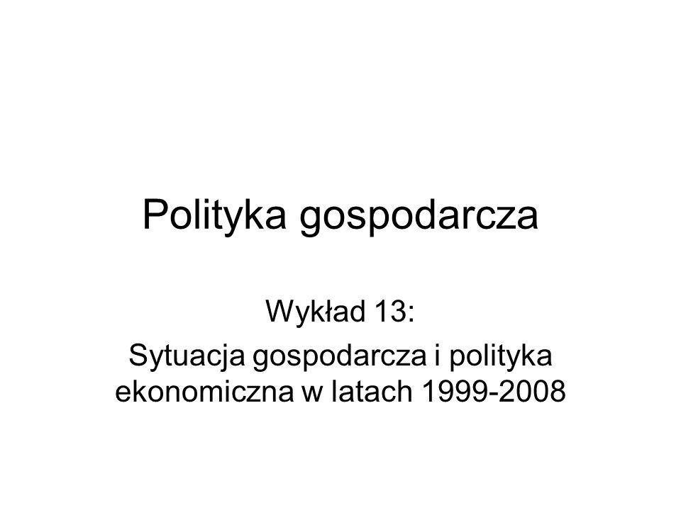 Sytuacja gospodarcza i polityka ekonomiczna w latach 1999-2008
