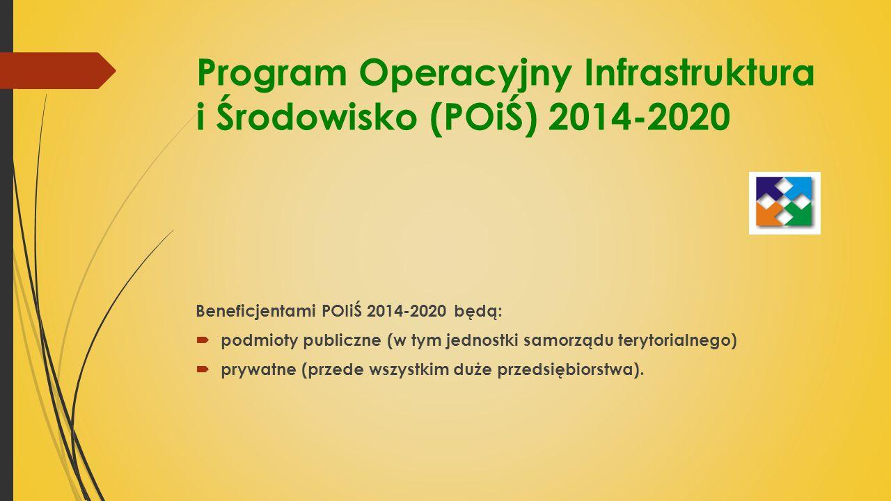 Program Operacyjny Infrastruktura i Środowisko (POiŚ) 2014-2020