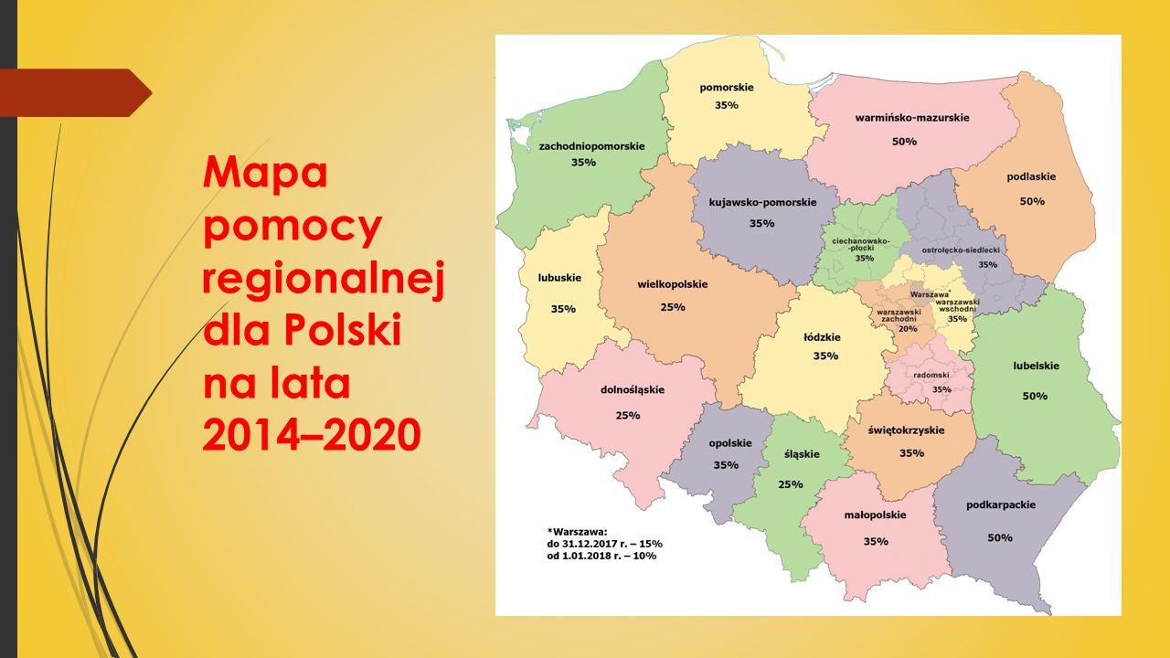Mapa pomocy regionalnej dla Polski na lata 2014–2020