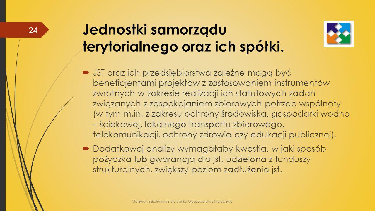 Jednostki samorządu terytorialnego oraz ich spółki.