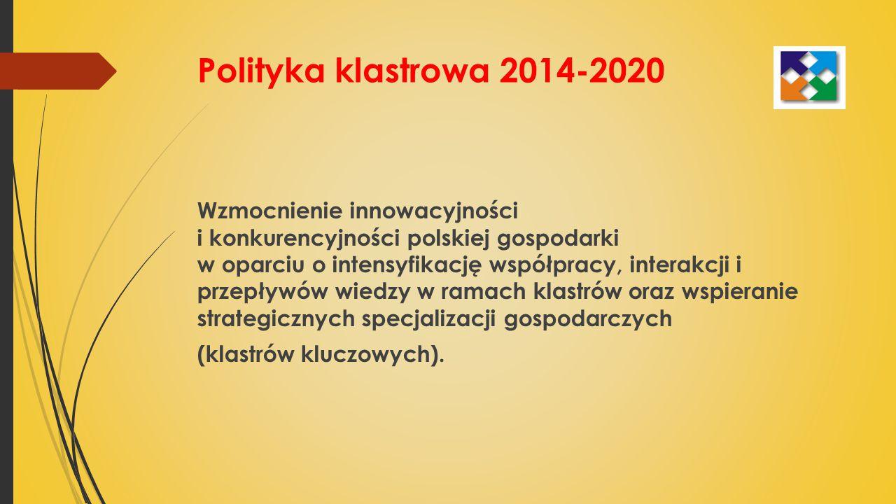 Polityka klastrowa 2014-2020