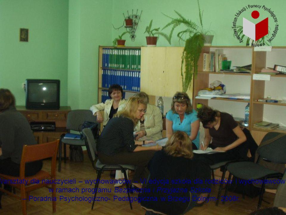 Warsztaty dla nauczycieli – wychowawców – VI edycja szkoła dla rodziców i wychowawców