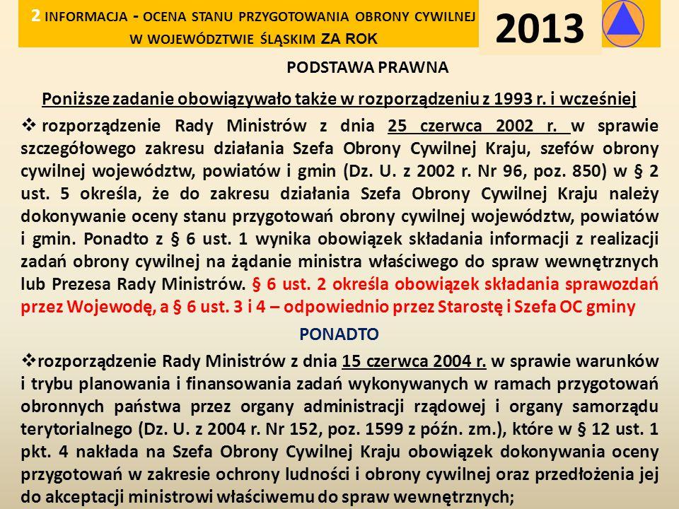 2 informacja - ocena stanu przygotowania obrony cywilnej w województwie śląskim za rok
