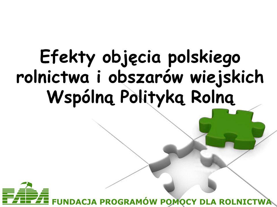 Efekty objęcia polskiego rolnictwa i obszarów wiejskich Wspólną Polityką Rolną