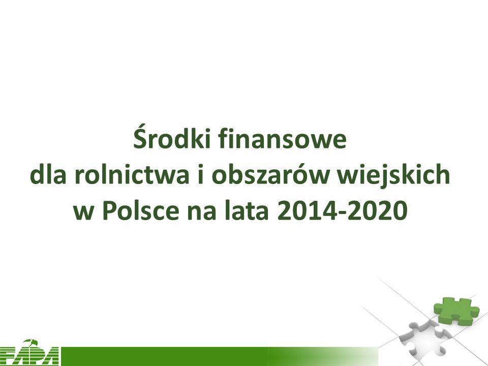 Środki finansowe dla rolnictwa i obszarów wiejskich w Polsce na lata 2014-2020