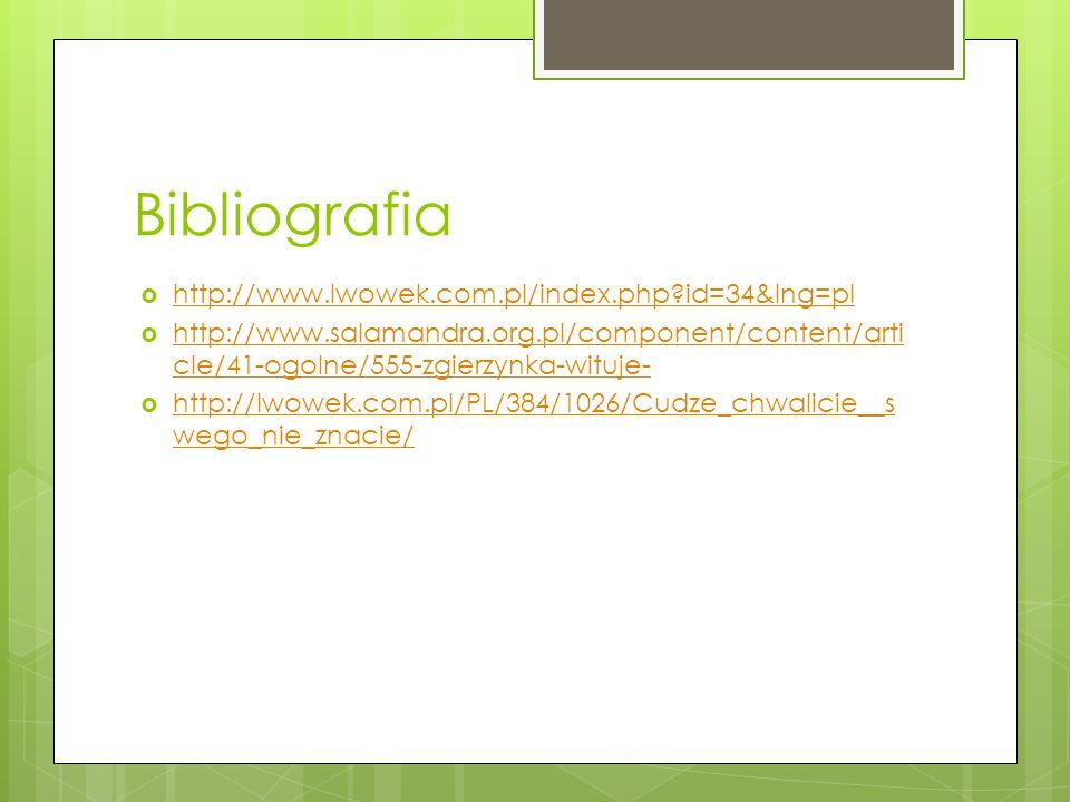 Bibliografia http://www.lwowek.com.pl/index.php id=34&lng=pl
