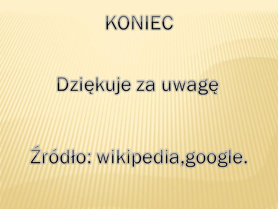 Źródło: wikipedia,google.