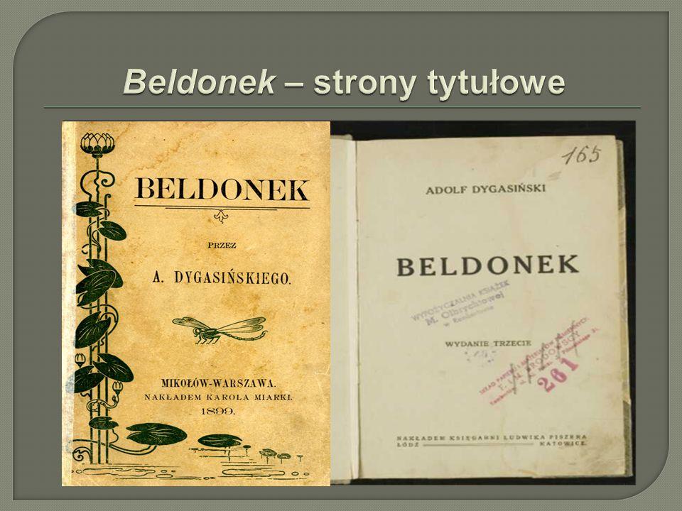 Beldonek – strony tytułowe